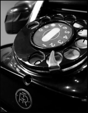 Image of an old telephone