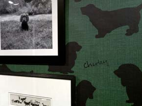 Hackett London - Dog Silhouette Wallpaper