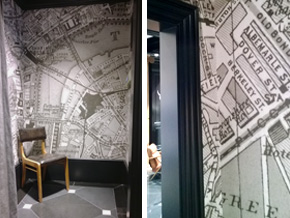 Hackett_Regent Street_Bespoke Wallpaper_Space Innovation_Vintage London Map