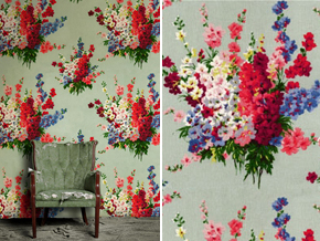 Cath Kidston Wallpaper_WOODSTOCK ROSE_Space Innovation