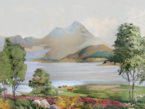 SCOTTISH HIGHLANDS_Wallpaper Mural_GEORGIA HORTON