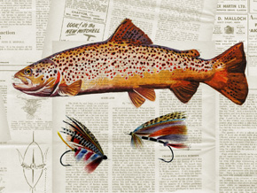 Ted Baker VINTAGE ANGLER Wallpaper 03