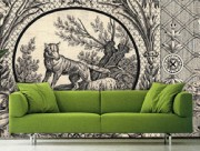 Space Innovation_Wolf Toile_Bespoke_Wallpaper